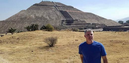 Jim Vieira exploring the ancient mysteries of Mexico
