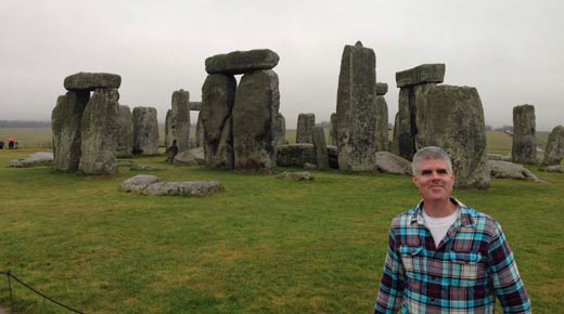 jim vieira at stonehenge