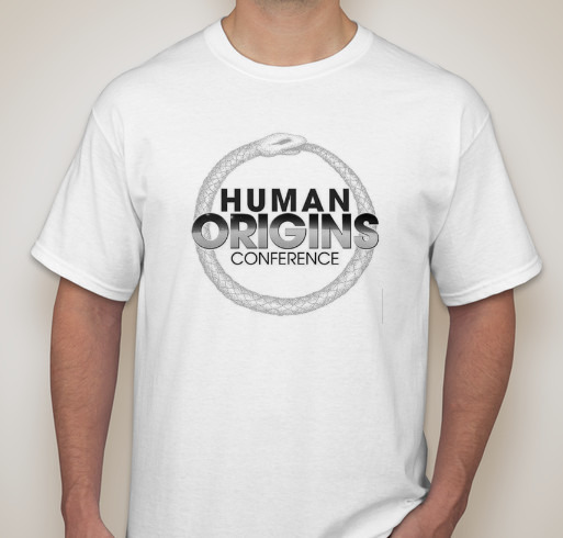 human origins conference t-shirt front