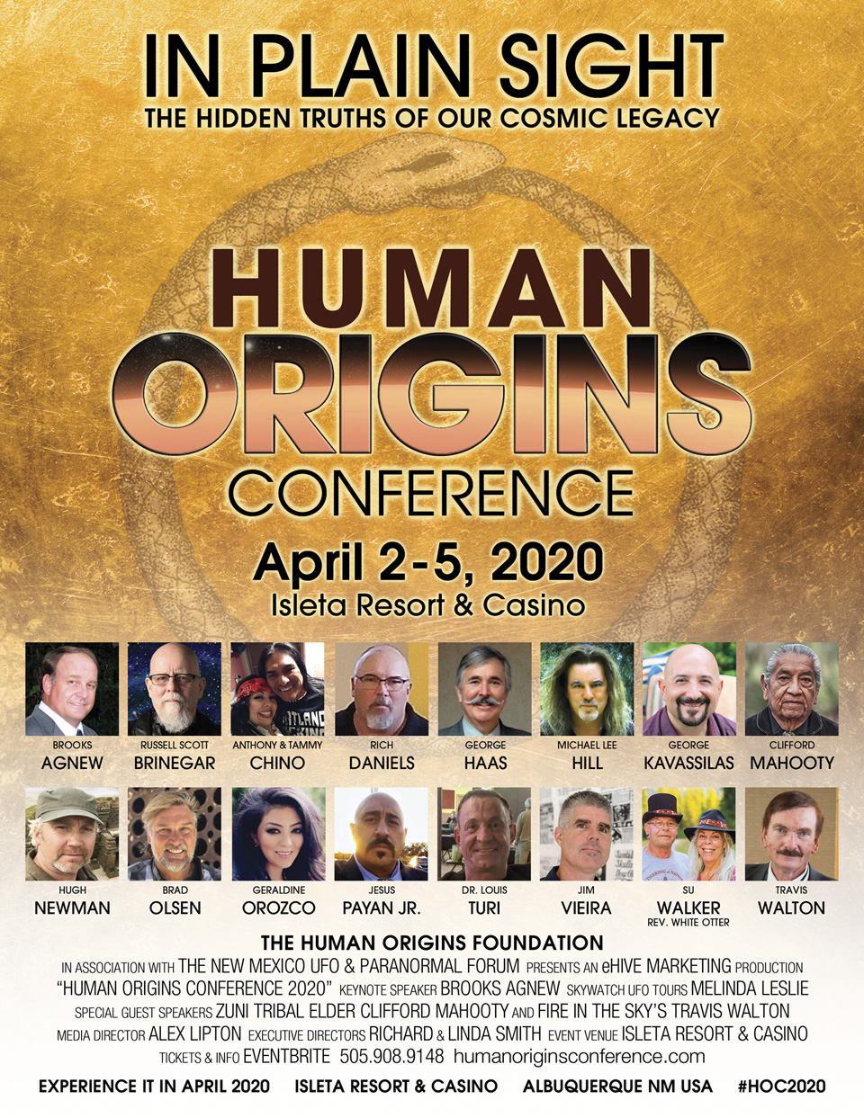 human origins conference 2020 official poster